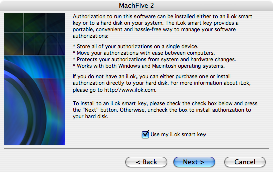 MachFive license card authorization - 02 - Use iLok