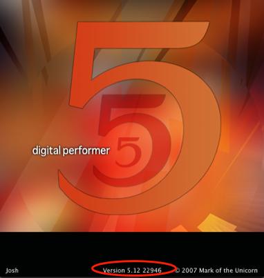 Finding Digital Performer's version number