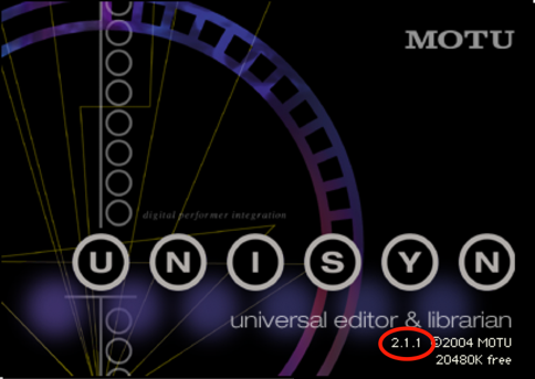 Find Unisyn's version number